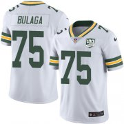 Wholesale Cheap Nike Packers #75 Bryan Bulaga White Men's 100th Season Stitched NFL Vapor Untouchable Limited Jersey