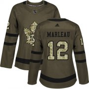 Wholesale Cheap Adidas Maple Leafs #12 Patrick Marleau Green Salute to Service Women's Stitched NHL Jersey