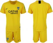 Wholesale Cheap Boca Juniors Blank Yellow Goalkeeper Soccer Club Jersey