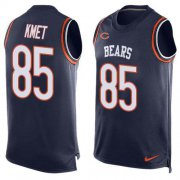 Wholesale Cheap Nike Bears #85 Cole Kmet Navy Blue Team Color Men's Stitched NFL Limited Tank Top Jersey