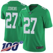 Wholesale Cheap Nike Eagles #27 Malcolm Jenkins Green Men's Stitched NFL Limited Rush 100th Season Jersey