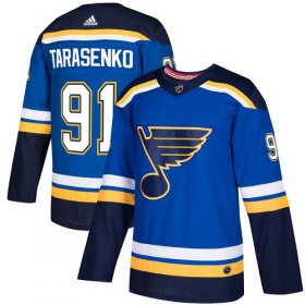 Wholesale Cheap Adidas Blues #91 Vladimir Tarasenko Blue Home Authentic Stitched NHL Jersey