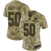 Wholesale Cheap Nike Chiefs #50 Willie Gay Jr. Camo Women's Stitched NFL Limited 2018 Salute To Service Jersey