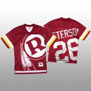 Wholesale Cheap NFL Washington Redskins #26 Adrian Peterson Red Men's Mitchell & Nell Big Face Fashion Limited NFL Jersey