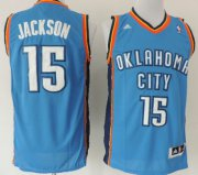 Wholesale Cheap Oklahoma City Thunder #15 Reggie Jackson Revolution 30 Swingman Blue Jersey