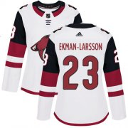 Wholesale Cheap Adidas Coyotes #23 Oliver Ekman-Larsson White Road Authentic Women's Stitched NHL Jersey