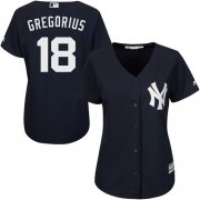 Wholesale Cheap Yankees #18 Didi Gregorius Navy Blue Alternate Women's Stitched MLB Jersey