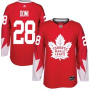 Wholesale Cheap Adidas Maple Leafs #28 Tie Domi Red Team Canada Authentic Stitched NHL Jersey
