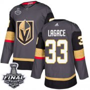 Wholesale Cheap Adidas Golden Knights #33 Maxime Lagace Grey Home Authentic 2018 Stanley Cup Final Stitched NHL Jersey