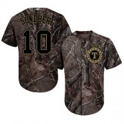 Wholesale Cheap Rangers #10 Jim Sundberg Camo Realtree Collection Cool Base Stitched MLB Jersey