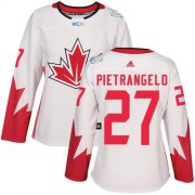 Wholesale Cheap Team Canada #27 Alex Pietrangelo White 2016 World Cup Women's Stitched NHL Jersey