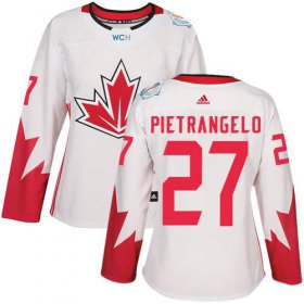 Wholesale Cheap Team Canada #27 Alex Pietrangelo White 2016 World Cup Women\'s Stitched NHL Jersey