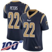Wholesale Cheap Nike Rams #22 Marcus Peters Navy Blue Team Color Men's Stitched NFL 100th Season Vapor Limited Jersey