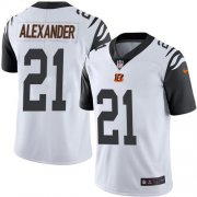 Wholesale Cheap Nike Bengals #21 Mackensie Alexander White Men's Stitched NFL Limited Rush Jersey
