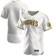 Wholesale Cheap San Diego Padres Men's Nike White Brown Authentic Alternate Team MLB Jersey