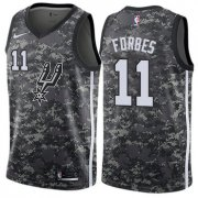 Wholesale Cheap Men's Nike San Antonio Spurs #11 Bryn Forbes Black Basketball Swingman City Edition 2018-19 Jersey