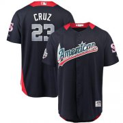 Wholesale Cheap Mariners #23 Nelson Cruz Navy Blue 2018 All-Star American League Stitched MLB Jersey