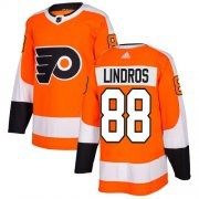 Wholesale Cheap Adidas Flyers #88 Eric Lindros Orange Home Authentic Stitched NHL Jersey