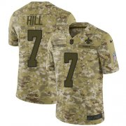 Wholesale Cheap Nike Saints #7 Taysom Hill Camo Men's Stitched NFL Limited 2018 Salute To Service Jersey