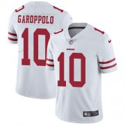 Wholesale Cheap Nike 49ers #10 Jimmy Garoppolo White Youth Stitched NFL Vapor Untouchable Limited Jersey