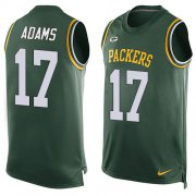 Wholesale Cheap Nike Packers #17 Davante Adams Green Team Color Men's Stitched NFL Limited Tank Top Jersey