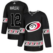 Wholesale Cheap Adidas Hurricanes #12 Patrick Marleau Black Authentic Team Logo Fashion Stitched NHL Jersey