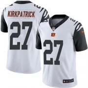 Wholesale Cheap Nike Bengals #27 Dre Kirkpatrick White Men's Stitched NFL Limited Rush Jersey