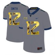 Wholesale Cheap West Virginia Mountaineers 12 Geno Smith Gray Fashion College Football Jersey