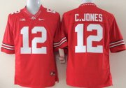 Wholesale Cheap Ohio State Buckeyes #12 Cardale Jones 2014 Red Limited Jersey
