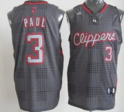 Wholesale Cheap Los Angeles Clippers #3 Chris Paul Black Rhythm Fashion Jersey