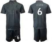 Wholesale Cheap Liverpool #6 Lovren Black Soccer Club Jersey