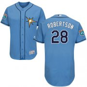 Wholesale Cheap Rays #28 Daniel Robertson Light Blue Flexbase Authentic Collection Stitched MLB Jersey