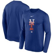 Wholesale Cheap Men's New York Mets Nike Royal Authentic Collection Legend Performance Long Sleeve T-Shirt