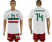 Wholesale Cheap Mexico #14 J.Hernandez Away Soccer Country Jersey