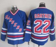 Wholesale Rangers #22 Mike Gartner Blue CCM Heroes of Hockey Alumni Stitched NHL Jersey