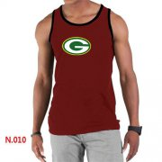 Wholesale Cheap Men's Nike NFL Green Bay Packers Sideline Legend Authentic Logo Tank Top Red