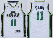 Wholesale Cheap Utah Jazz #11 Dante Exum Revolution 30 Swingman White Jersey