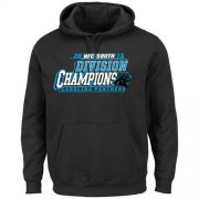 Wholesale Cheap Men's Carolina Panthers Majestic Black 2015 NFC South Division Champions Pullover Hoodie