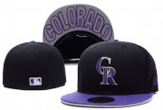 Wholesale Cheap Colorado Rockies fitted hats 01