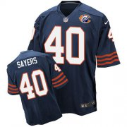 Wholesale Cheap Nike Bears #40 Gale Sayers Navy Blue Throwback Men's Stitched NFL Elite Jersey
