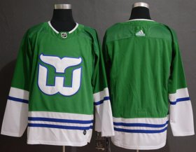 Wholesale Cheap Adidas Whalers Blank Green Authentic Stitched NHL Jersey