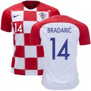 Wholesale Cheap Croatia #14 Bradaric Home Soccer Country Jersey