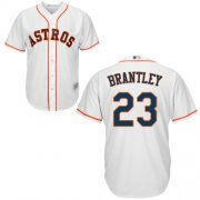 Wholesale Cheap Astros #23 Michael Brantley White New Cool Base Stitched MLB Jersey