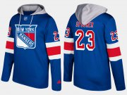 Wholesale Cheap Rangers #23 Ryan Spooner Blue Name And Number Hoodie