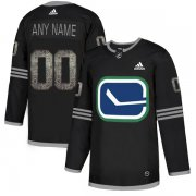 Wholesale Cheap Men's Adidas Canucks Personalized Authentic Black Classic NHL Jersey