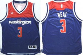 Wholesale Cheap Washington Wizards #3 Bradley Beal Revolution 30 Swingman 2014 New Navy Blue Jersey