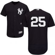 Wholesale Cheap Yankees #25 Gleyber Torres Navy Blue Flexbase Authentic Collection Stitched MLB Jersey