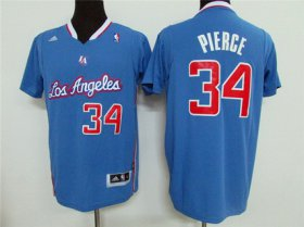 Wholesale Cheap Men\'s Los Angeles Clippers #34 Paul Pierce Revolution 30 Swingman Light Blue Short-Sleeved Jersey