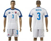 Wholesale Cheap Slovakia #3 Skrtel Home Soccer Country Jersey