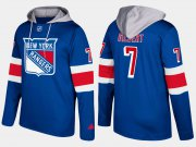 Wholesale Cheap Rangers #7 Rod Gilbert Blue Name And Number Hoodie